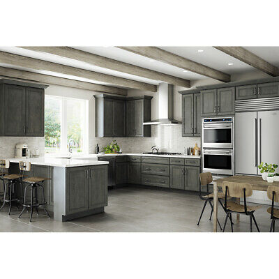 $2499 • Buy Lily Ann Cabinets 10x10 Wood Kitchen Cabinets Furniture RTA-York Driftwood Grey