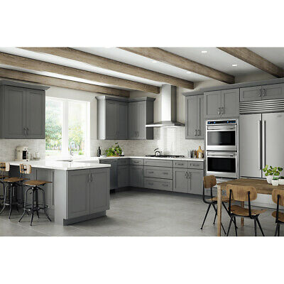 $2459 • Buy Lily Ann Cabinets 10x10 Wood Kitchen Cabinets Furniture RTA - Grey Shaker Elite