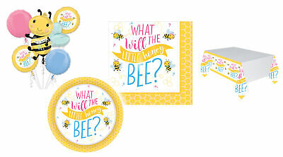 £3.25 • Buy What Will Honey Bee Baby Shower Party Gender Reveal Tableware Balloon Decoration