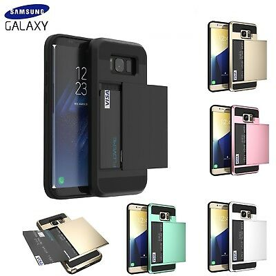 $ CDN6.97 • Buy Samsung Galaxy S7 S8 S9+ S10 Plus Case Shockproof Card Holder Hard Wallet  Cover