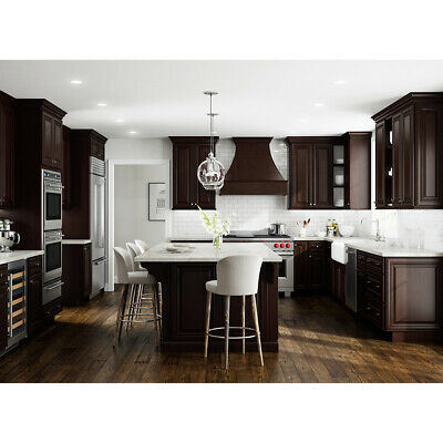 $2269 • Buy Lily Ann Cabinets 10x10 Wood Kitchen Cabinets Furniture RTA - Bristol Chocolate
