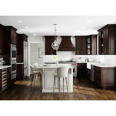 $2179 • Buy Lily Ann Cabinets 10x10 Wood Kitchen Cabinets Furniture RTA - York Chocolate