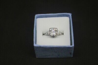 $26.95 • Buy Beautiful Sterling Silver Princess CZ 3.43 Ctw Solitaire Engagement Ring Size7.