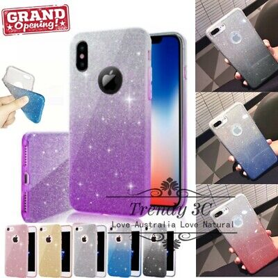 AU6.99 • Buy Bling Glitter Pattern Sparky Gradient Case Cover For IPhone6/S/7/8/Plus/X/XS