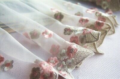 £3.99 • Buy Evening Bridal Dress Lace Tulle Costume Craft Edging Embroidered Blossom Ribbon