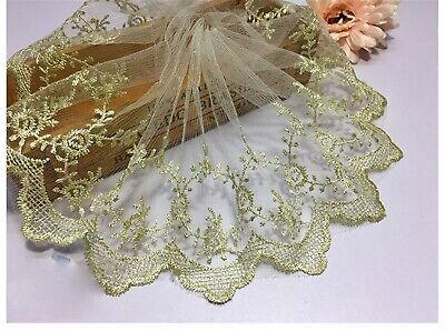 £3.99 • Buy Evening Show Dress Lace Edging Gold Dancing Costume Craft DIY Embroidered Ribbon