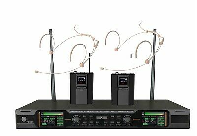 Wireless Headmic Set UHF Performance Stage Wireless Microphone System 2 Headset • 225.72£