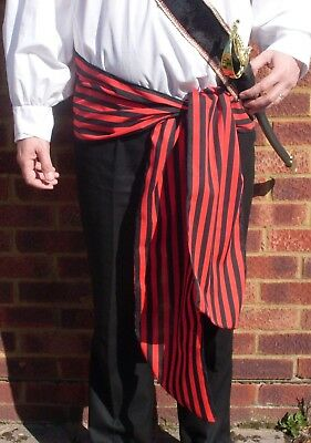 Stripe Pirate Sailor 1980's Style Tie Sash Belt Different Colours • 7.95£