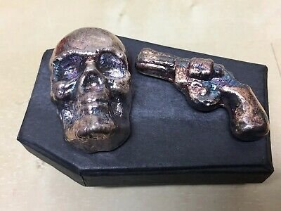 $ CDN529.10 • Buy *VERY RARE DEAD & DANGEROUS SET* 5oz Skull & 45g Colt Yeagers Poured .999 Silver