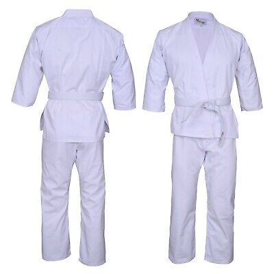 £12.99 • Buy Adult Lightweight Karate Suit/Gi With Free White Belt Norman