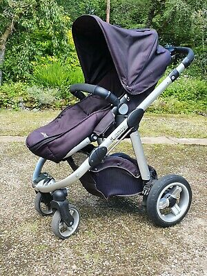Icandy Apple Pram Pushchair Stroller - Black And Carrycot • 45£