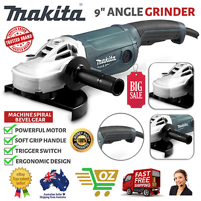 AU191.91 • Buy Makita 9  Angle Grinder 230mm 9 Inch Powerful 2000W Cord M9001G Trigger Switch