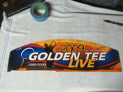 $24 • Buy GOLDEN TEE 2009 LIVE GOLF   25 - 7 3/4  Arcade Game Sign Marquee CF12A