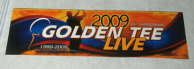 $24 • Buy GOLDEN TEE 2009 LIVE GOLF   25 3/4 - 7   Arcade Game Sign Marquee CF12A