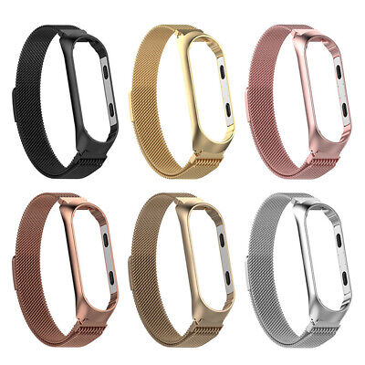 $9.99 • Buy For Xiaomi Mi 3 4 Watch Band Milanese Magnetic Loop Stainless Steel Wrist Strap