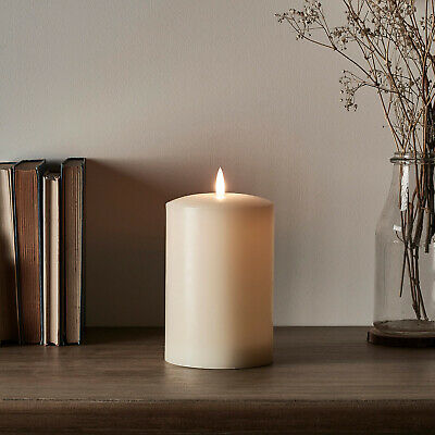 Small Battery LED Flameless Ivory Pillar Candle TruGlow™ 6hTimer 15cm Lights4fun • 15.99£