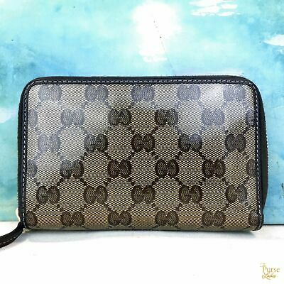 b98eba420 $750 GUCCI Brown Crystal Coated Canvas Monogram GG Web Wallet SALE! •  320.00$