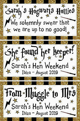 £3.50 • Buy 2 X PERSONALISED HARRY POTTER BANNERS Muggle To Mrs Hen Party Banner