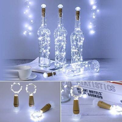 Bright White Wine Bottle Cork Fairy String LED Lights Wedding Party Decor Lamps • 10.67£