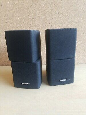 2 X Bose Black Double Cube Acoustimass 5 10 15  Lifestyle 18 28 Speakers Etc • 110£