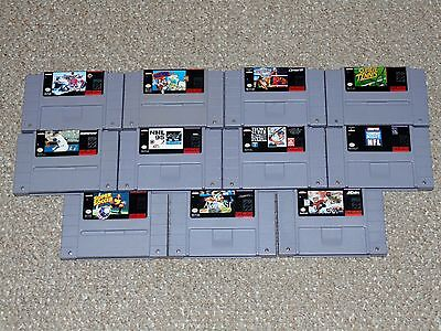$ CDN87.99 • Buy Lot Of 11 Super Nintendo SNES Sports Games With Some Boxes/Manuals NHL NFL More