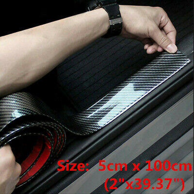 $11.89 • Buy Car Stickers Carbon Fiber Vinyl Door Sill Protector Sedan Auto Parts Accessories