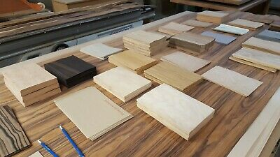 £1 • Buy Natural Wood Veneer Samples, HIGHEST QUALITY, A5, 220mm X 150mm, Marquetry