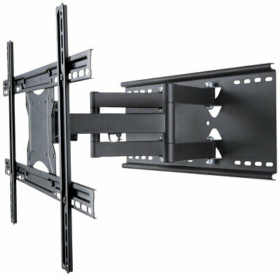 Slim Twin Arm Pull Out TV Wall Bracket Mount For Logik 50 55 60 65 75 80 Inch TV • 74.99£