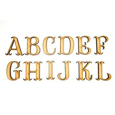 £1.09 • Buy Wooden Letters Small Large 2cm-20cm MDF Wooden Craft Letters Alphabet Scrapbook