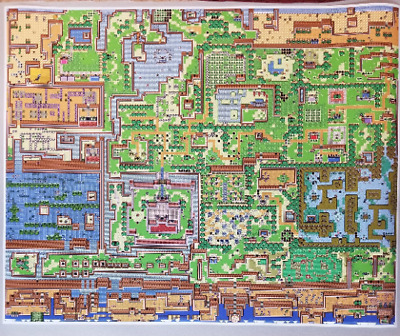 $22.45 • Buy Zelda Link's Awakening 24  X 30  Poster Print Legend Of Zelda Game Boy NES Map