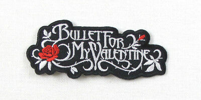 £2.39 • Buy BULLET FOR MY VALENTINEBLACK & RED Embroidered Iron On Sew On Patch
