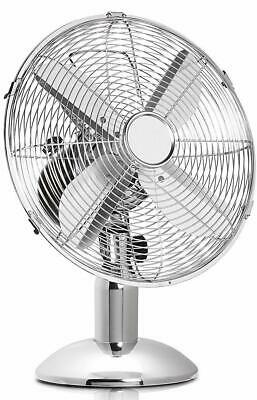 £29.99 • Buy Dealberry 10  And 12  Metal Oscillating Table Desk Fan, Portable Air Fan, Home
