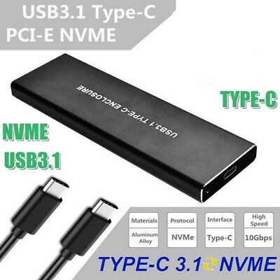 AU48.79 • Buy M.2 NVMe M-Key SSD To USB 3.1 Type-C 10Gbps Adapter External Mobile Enclosure AU