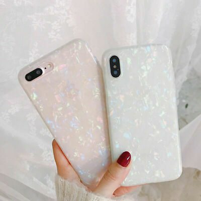 AU13.98 • Buy For OPPO A73 AX7 Reno Z AX5S Cute Bling Glitter Slim TPU Soft Clear Case Cover