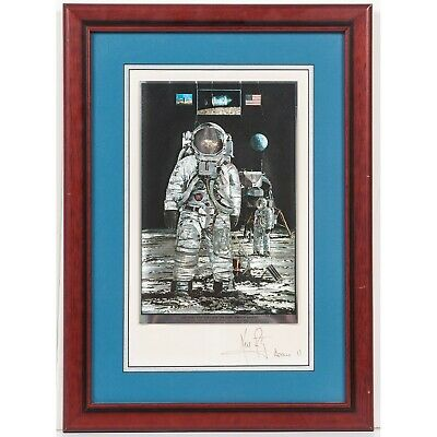 $3250 • Buy Foil Etch Of Apollo 11 Moon Landing - Signed By Neil Armstrong With Mission Name