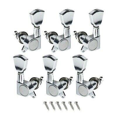 $ CDN15.14 • Buy LP Les Paul Electric Guitar Tuning Pegs Keys Machine Heads Tuners Set 3X3 Chrome