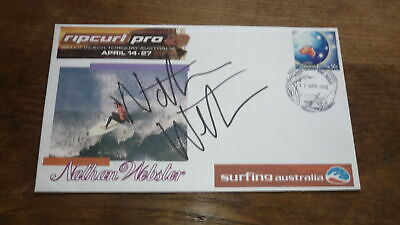 AU6 • Buy Surfing Champion Champion Nathan Webster Hand Signed Rip Curl Surf Cover