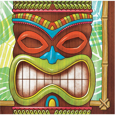 16 X Tiki Time Hawaiian Party Paper Beverage Napkins Summer Tropical Luau Party • 3.35£
