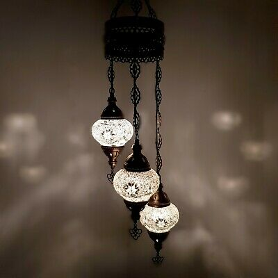 £64.99 • Buy Turkish Moroccan Chandelier Mosaic Hanging Lamp Ceiling Light Authentic Genuine