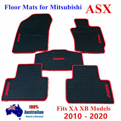AU80.75 • Buy All Weather Rubber Waterproof Floor Mats Customized For Mitsubishi ASX 10 - 2021