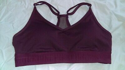 $ CDN30.31 • Buy Victoria Secret Pink Ultimate Lightly Lined Sport Bra Bikini Top Maroon