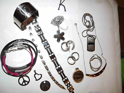 $ CDN50.09 • Buy Huge Lot K Of Never Tarnish Stainless Steel Jewelry Necklaces, & More *lqqk*