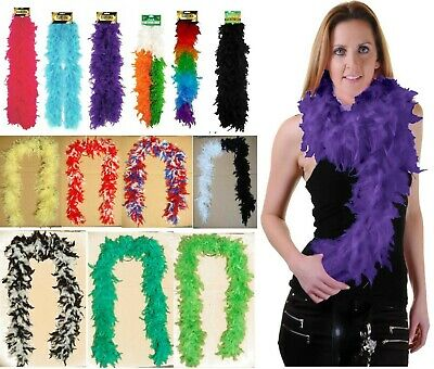 £5.49 • Buy 5ft LONG FEATHER BOA WHITE BLACK BURLESQUE SHOW GIRL HEN NIGHT FANCY DRESS PARTY