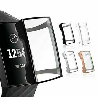 $ CDN3.26 • Buy Full Cover Silicone Film-Screen Protector & TPU Case Charge 3 For Fitbit Wa N2Q3