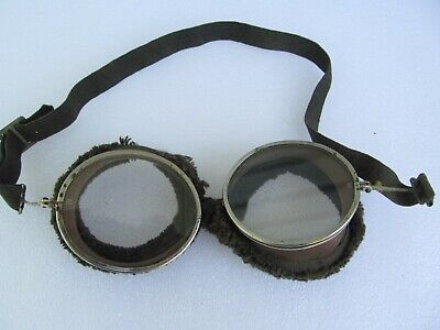 $89 • Buy Vintage Willson Safety Glasses Aviator Goggles Sunglasses  Steampunk Motorcycle