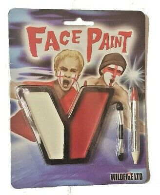ENGLAND FLAG FACE PAINT SET WorldCup Cricket Rugby St George Day Fancy Dress Lot • 1.79£