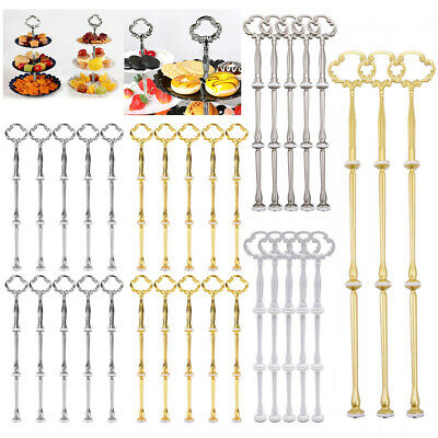 £7.49 • Buy 3/5/10x Cake Stand Fitting 3 Tier Cupcake Plate Rack Handle Rod Wedding Party UK