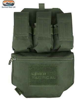 Kombat Green Guardian Assault Panel Webbing Airsoft Vest Molle System Pouch • 18.95£
