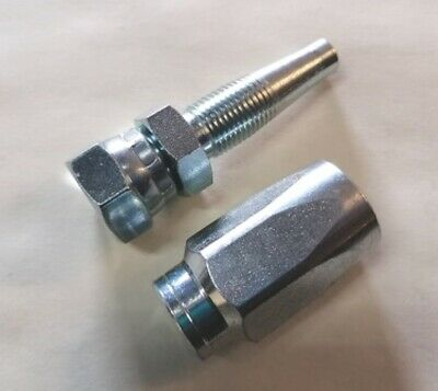 £7.50 • Buy Reusable Hydraulic Fitting, Insert Female Bsp Re End Set For R1T 1SN 1 Wire Hose