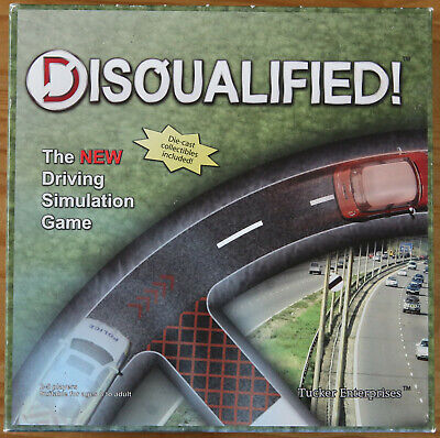 Disqualified! - Rare Driving Simulation Board Game - Collectible Die-cast Cars • 14.99£
